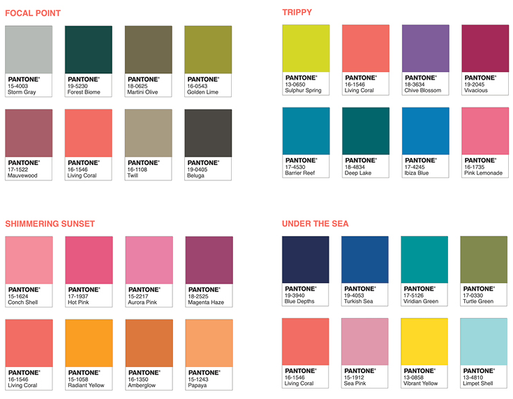 2019 Pantone Color Code For Reference