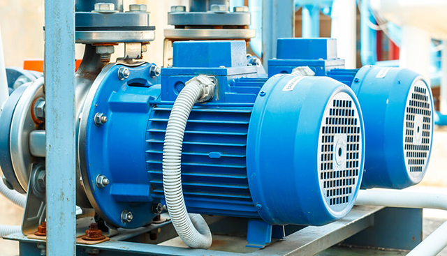 Installed Explosion Proof Motors at a Factory