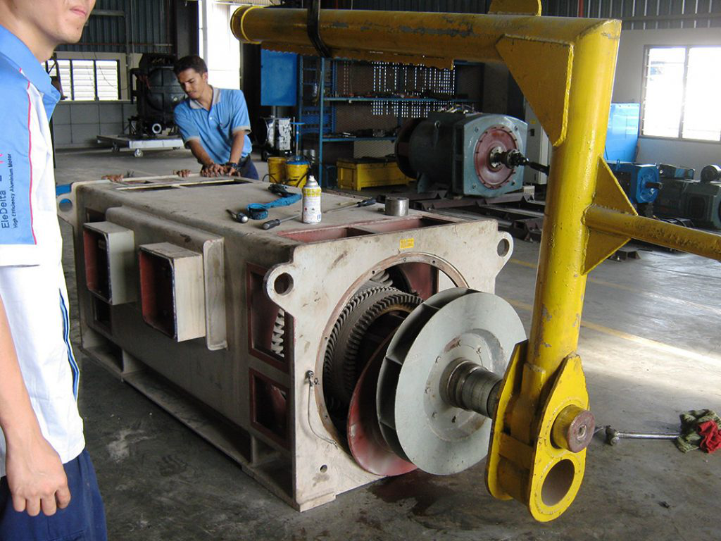 Technicians Working on an Explosion Proof Motor